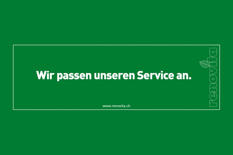 Wir passen unseren Service an.