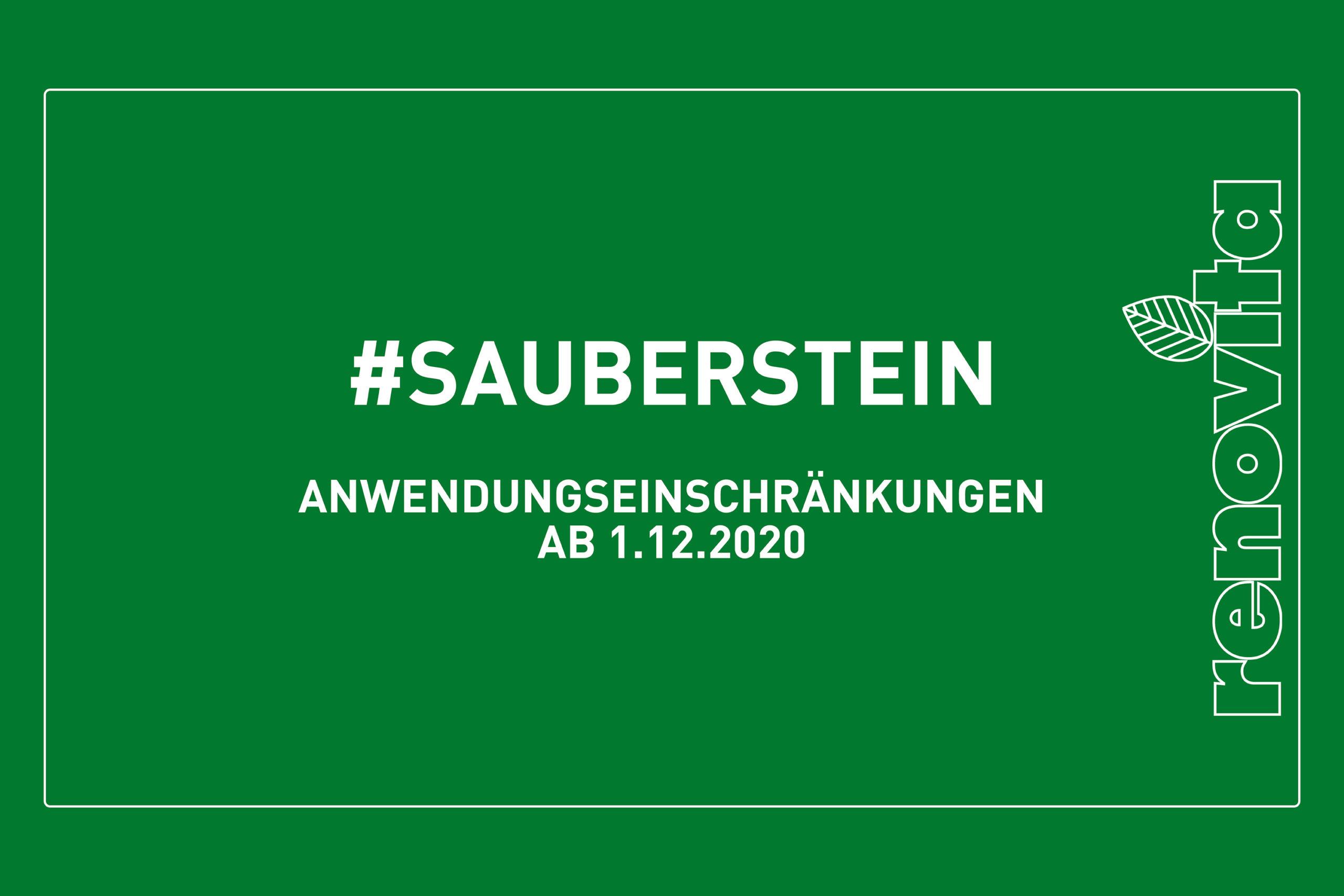 Sauberstein – Anwendungseinschränkungen